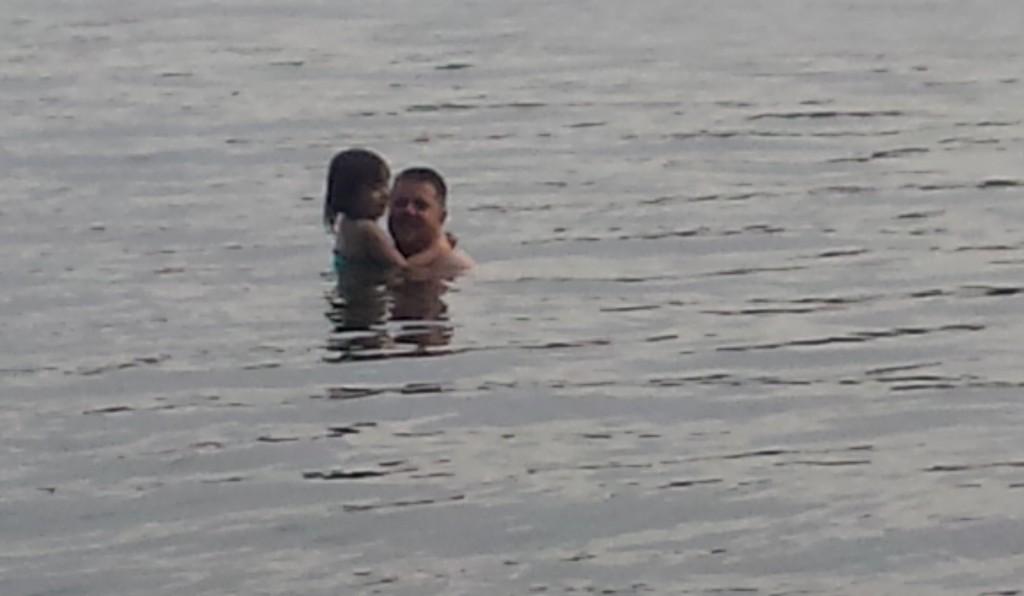 Swiming at Elk Lake