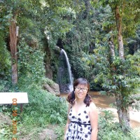 Beauty shot at waterfall