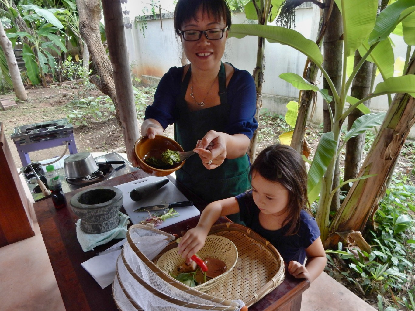 Attending Thai Cooking Class with your kids