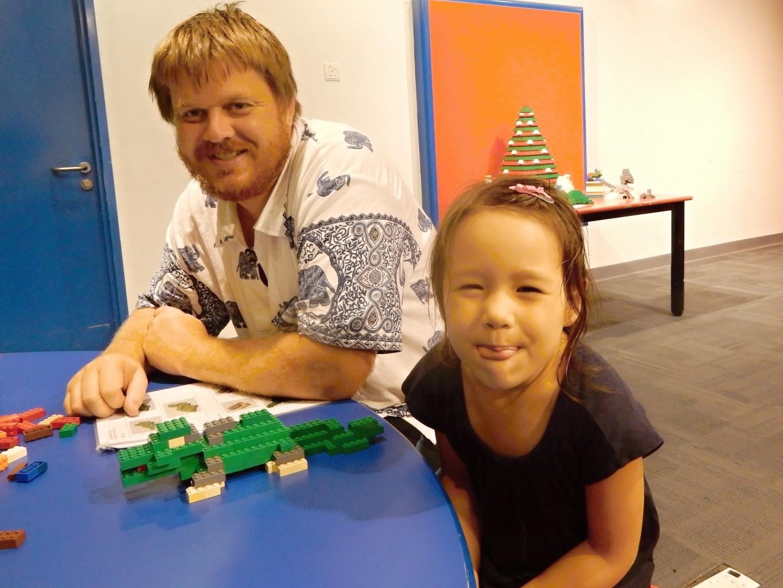 Building Legos in Legoland