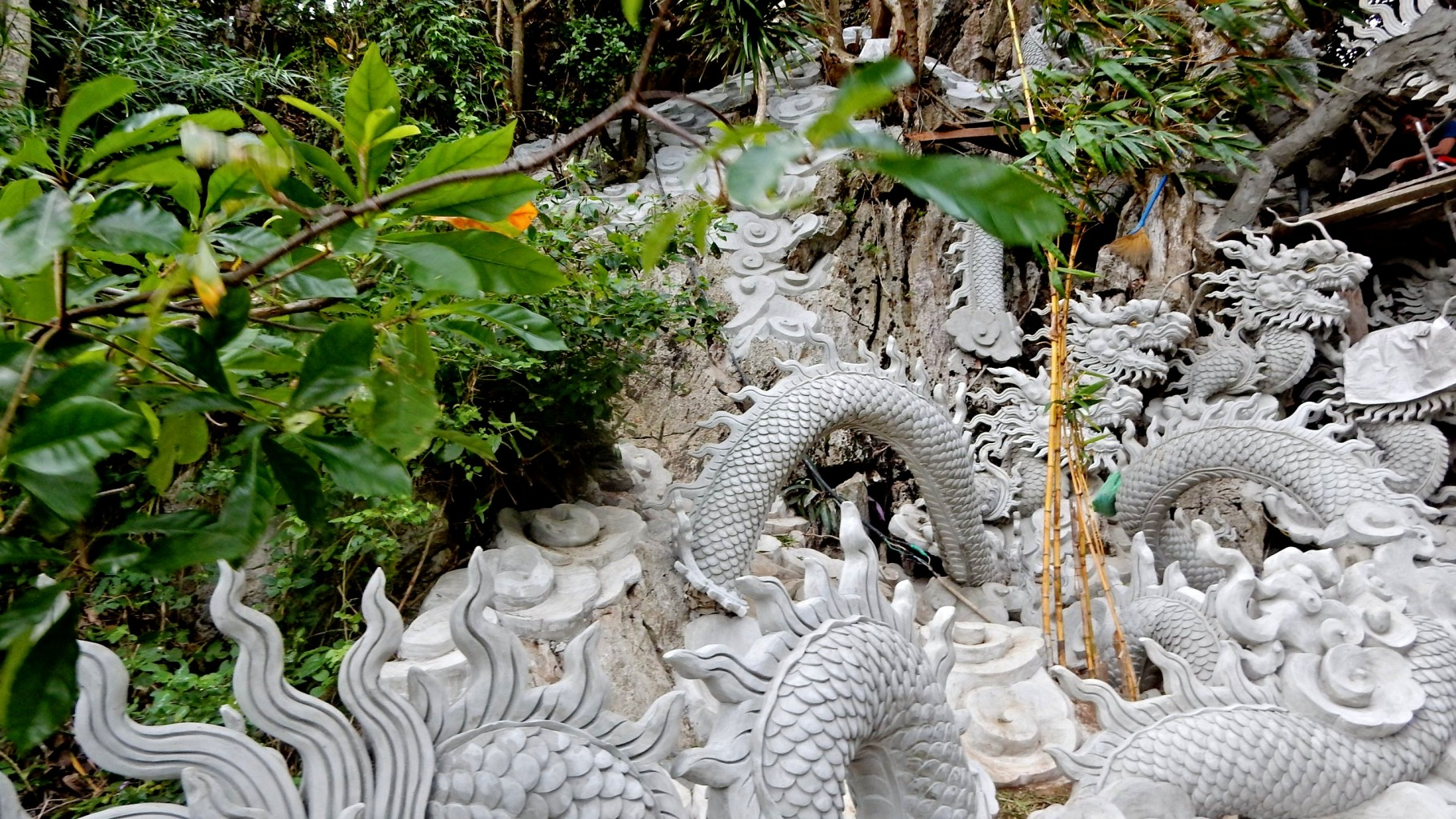 Dragons on Marble Mountains