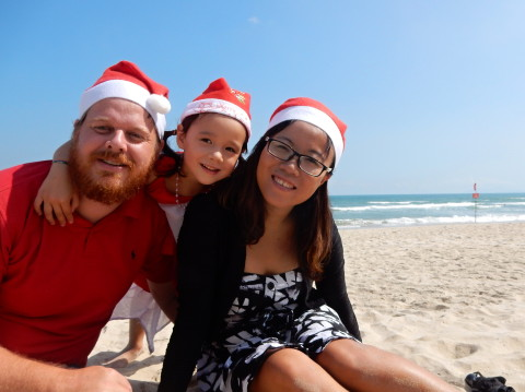 A Little Weekend Beach Time + Christmas Photo Taken