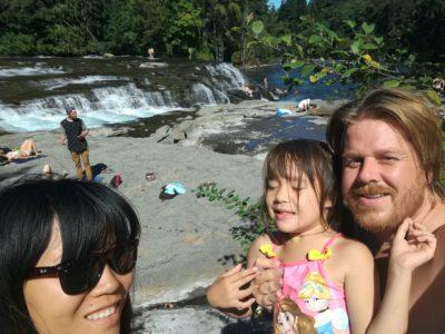 Family at Falls